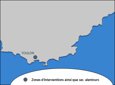 Intervention sur Toulon, Cannes et Nice
